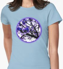 Blue blossoms Womens Fitted T-Shirt