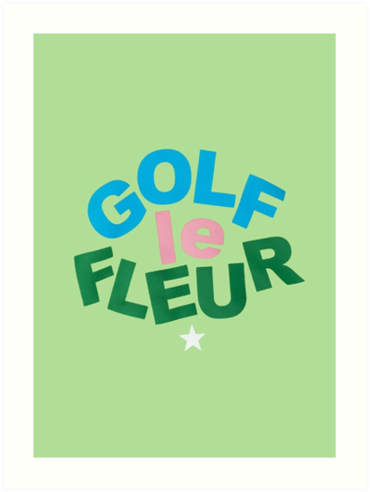 Golf Le Fleur Logo Green Art Prints By Rocketride Redbubble