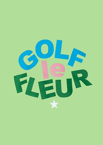 golf le fleur logo green posters by rocketride redbubble
