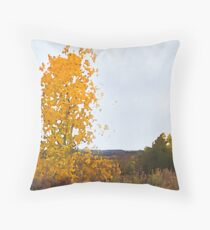 Lonely Cottonwood in Fall  Throw Pillow