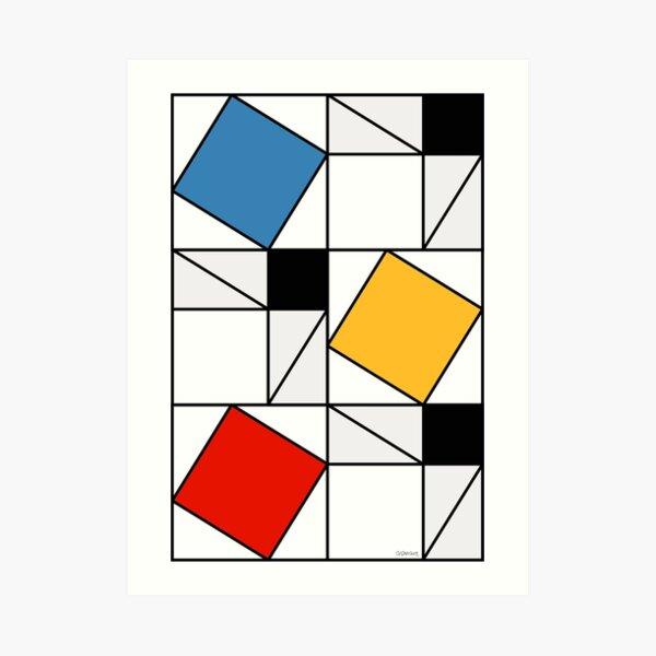 Mondrian meets Pythagoras  & Fibonacci Art Print
