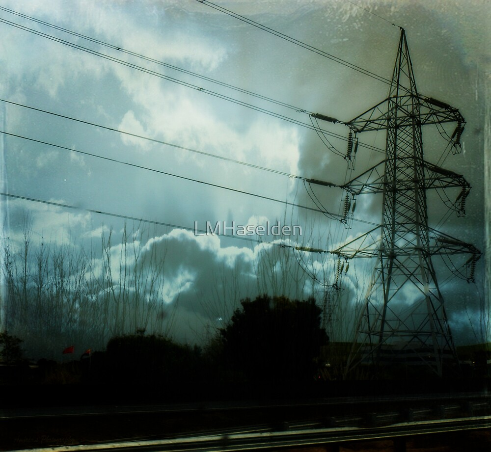 Roiling Skies and High Tension. by Lynne Haselden