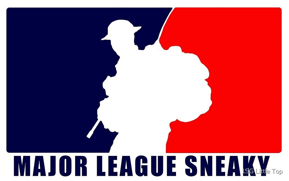 "Little Top presents ""Major League Sneaky""  LRRP, LRSC, LRSD Sticker by 1SG Little Top"