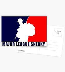 "Little Top presents ""Major League Sneaky""  LRRP, LRSC, LRSD Sticker Postcards"