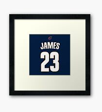 LeBron James Jersey Bag Framed Print
