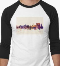 Calcutta (Kolkata) India Skyline Men's Baseball ¾ T-Shirt