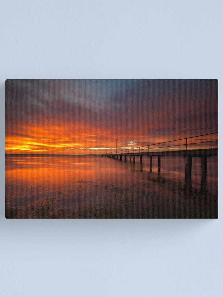 Alternate view of Sunrise at the Rippleside Pier Canvas Print