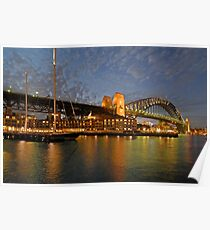 Sydney Harbour Bridge @ Dusk Poster