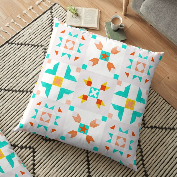 Macoccan pattern no3 - pastel Floor Pillow
