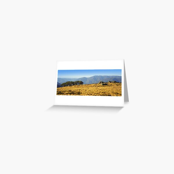 Mt Bogong from Mt Fainters Greeting Card