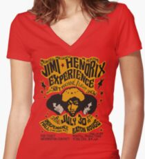 Jimi Hendrix – old poster 1968 Women's Fitted V-Neck T-Shirt