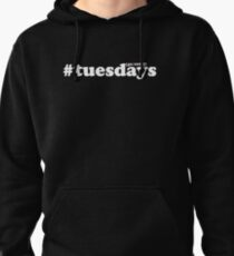 #tuesdays - white Pullover Hoodie