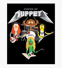 Master of Muppets 2 - Muppets as Metallica Band Photographic Print
