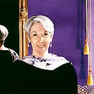 """Missouri First Lady Pat Wilson"" Watercolor, Paul Jackson by Paul Jackson"