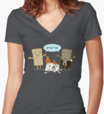 Funny S'mores - GROUP HUG! Women's Fitted V-Neck T-Shirt