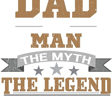 Awesome DAD - THE MAN MYTH LEGEND Shirt, Fathers Day Tshirt by nemo-shop
