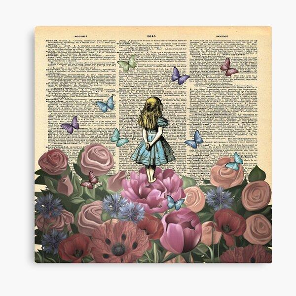 Alice au pays des merveilles - Wonderland Garden Impression sur toile