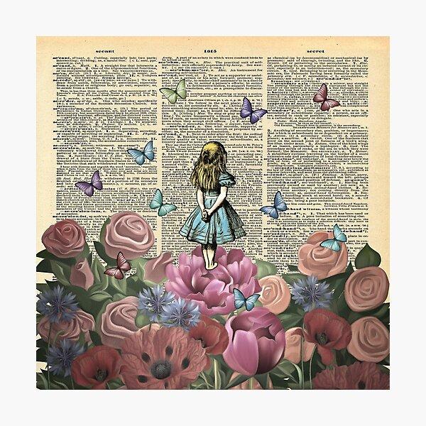 Alice im Wunderland - Wunderlandgarten Fotodruck