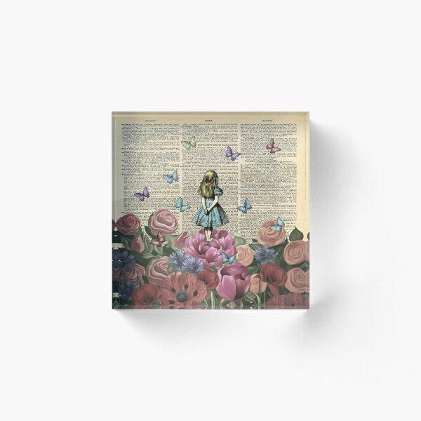 Alice In Wonderland - Wonderland Garden Acrylic Block