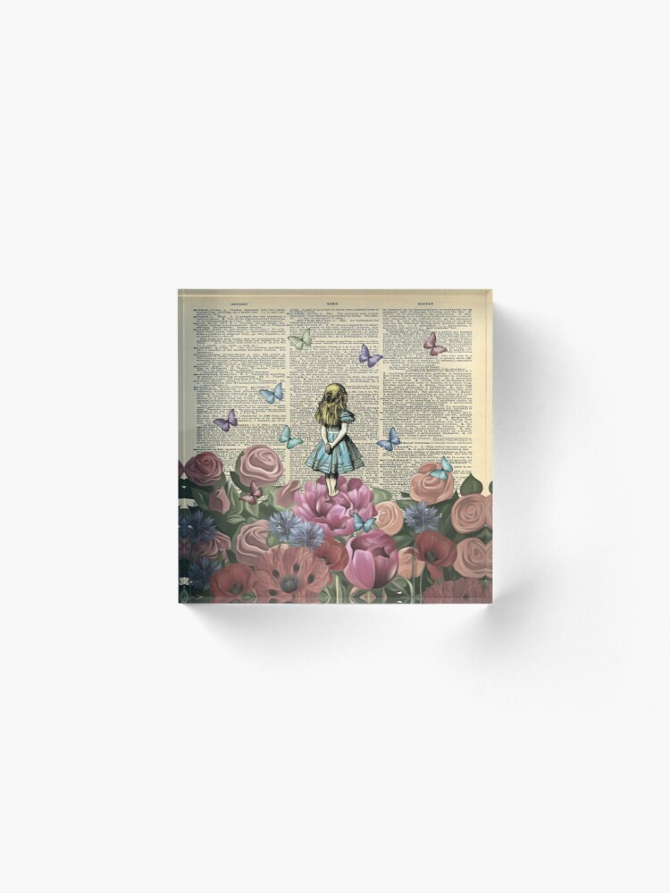 Alternate view of Alice In Wonderland - Wonderland Garden Acrylic Block