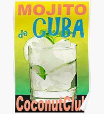 Mojito de Cuba Vintage Style Poster Poster