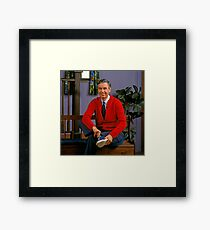 Mr Rogers - Won't you be my Neighbor? Framed Print