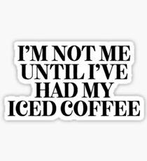 Pegatina Yo no hasta el café helado   Cafeína cafeína