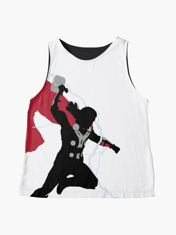 Alternate view of God of Thunder Sleeveless Top