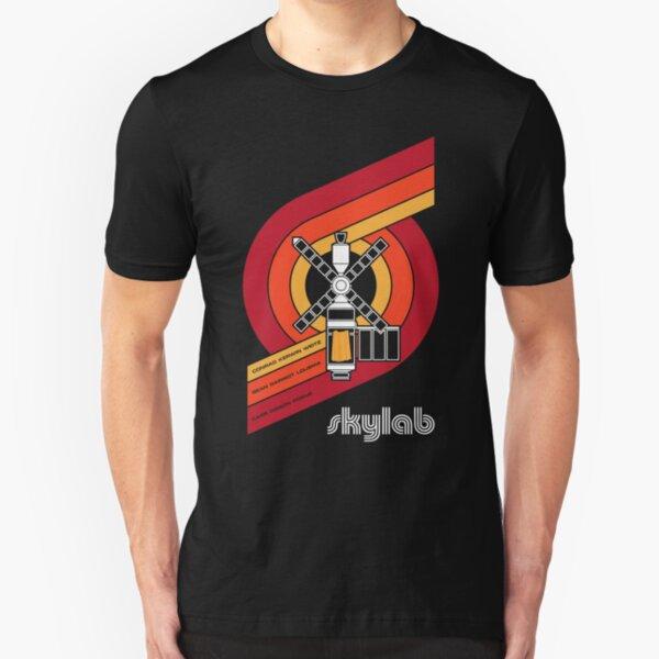 SKYLAB - Large Print Slim Fit T-Shirt