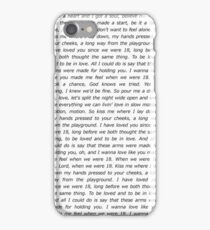 One Direction 18 Lyrics iPhone Case/Skin