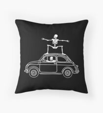 Fiat Surfing Throw Pillow