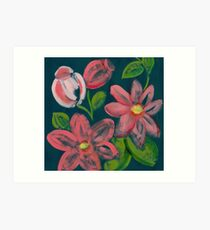 Textured Floral Art Print
