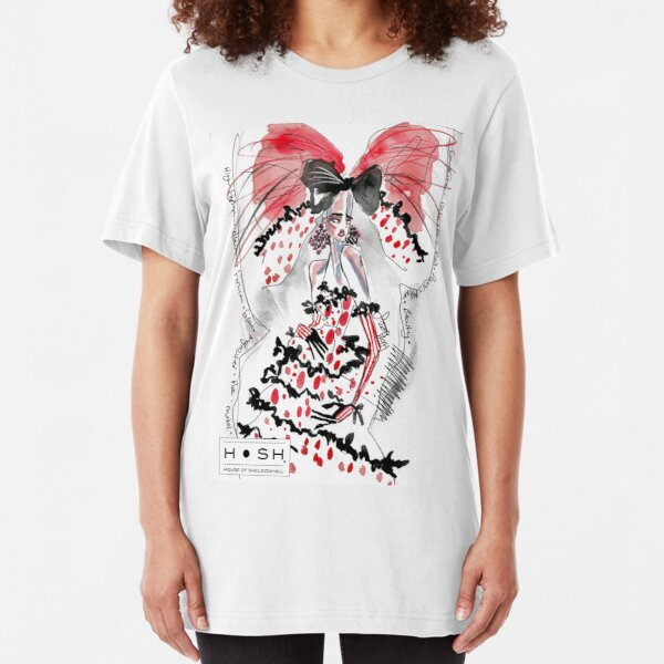 Old Skool Fashion Illustration 1 Slim Fit T-Shirt