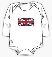 Union Jack, British Flag, UK, United Kingdom, Pure & simple, 1:2 One Piece - Long Sleeve