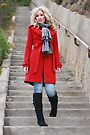 Paige on the stairs by david gilliver
