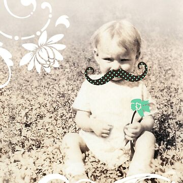 i mustache you a question vintage photography by maydaze