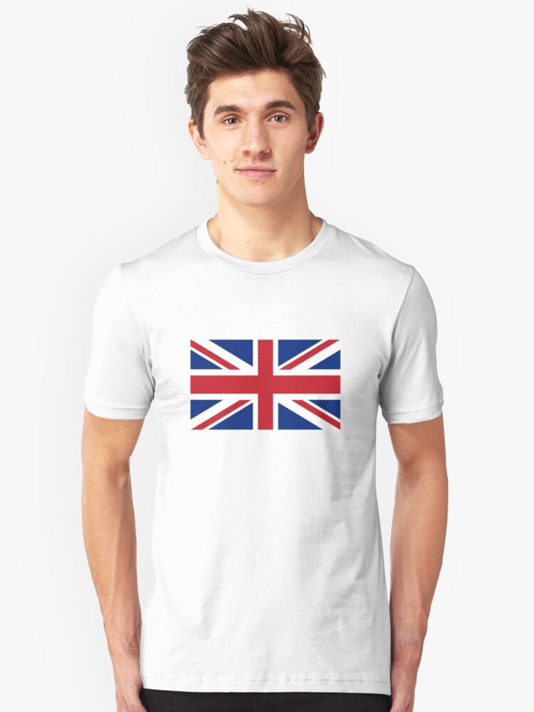 Union Jack, Flag of the United Kingdom, Britain, British flag, Pure and Simple Unisex T-Shirt Front