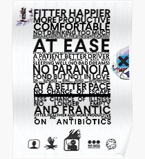Radiohead - Fitter Happier Poster