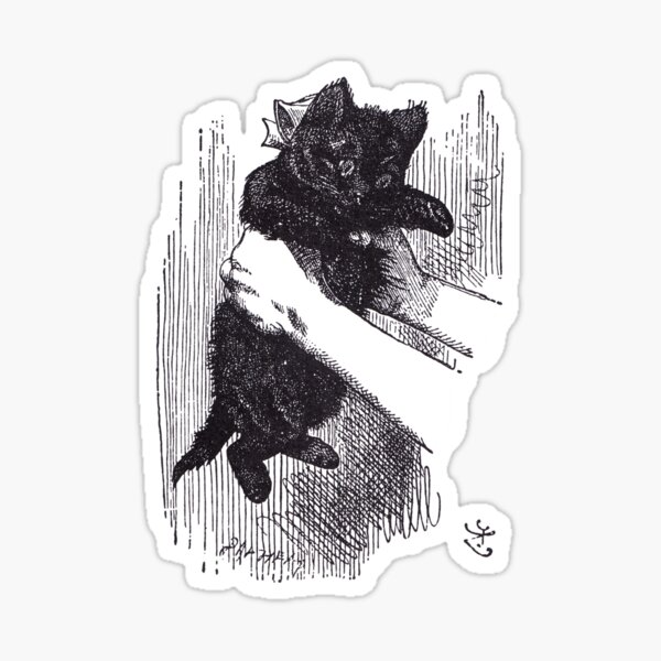The Black Kitten Sticker