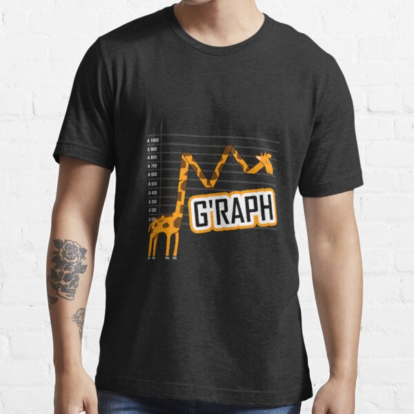 G'raph Giraffe Mathematicain Funny Animal Pun Essential T-Shirt