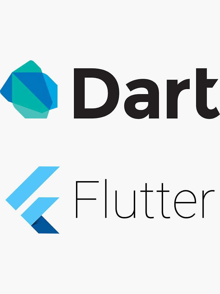 Dart and Flutter stickers by runx
