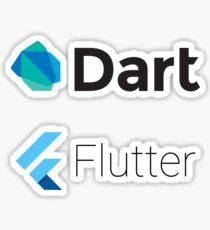 Dart and Flutter stickers Sticker