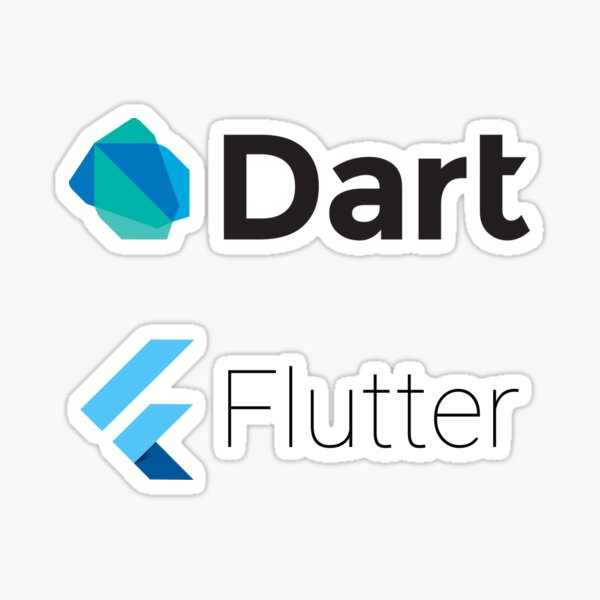 Dart and Flutter stickers Sticker