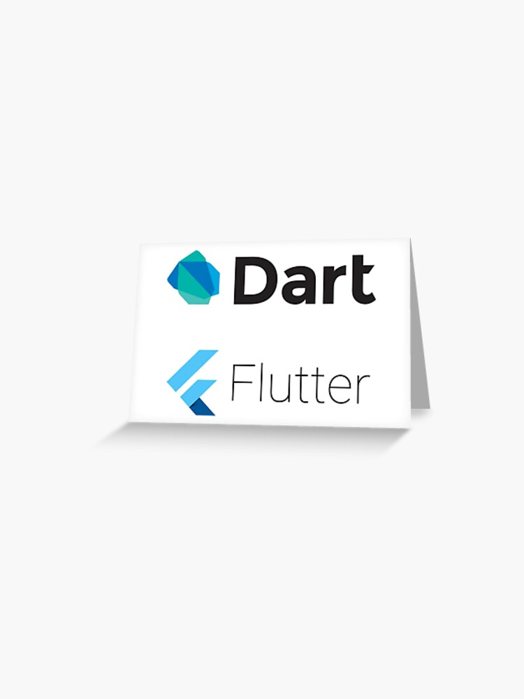 Dart and Flutter stickers | Greeting Card