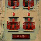 open red windows by Danny Edwards