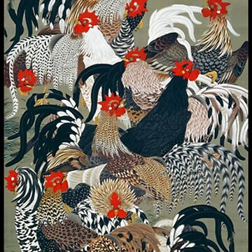 ROOSTERS, Cockerels, Itō Jakuchū by TOMSREDBUBBLE