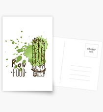 hand drawn vintage illustration of asparagus Postcards