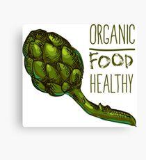 green fresh useful eco-friendly artichoke Canvas Print