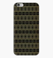 Black and Gold Royal Aztec Tribal Pattern iPhone Case