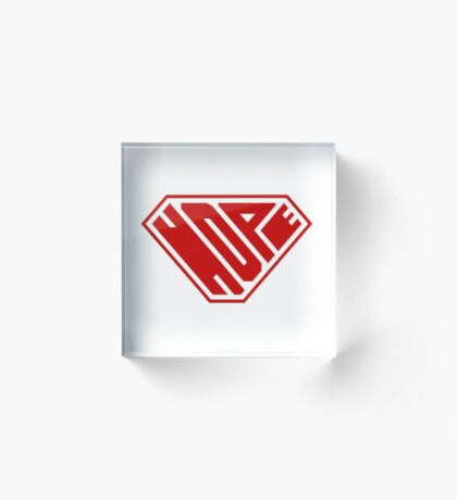 Hope SuperEmpowered (Red) Acrylic Block